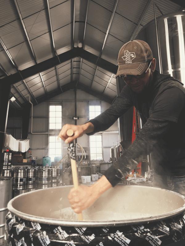 Ben brewing