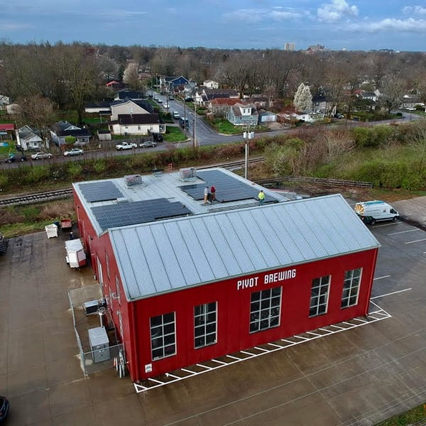 Pivot brewing solar installation 2020